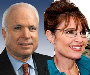 offical palm reader photo of Sarah Palin and John McCain